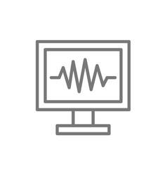 monitor pc computer screen line icon vector image