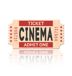 Movie ticket vintage retro style set 1 vector