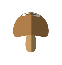 Mushroom healthy food diet shadow vector