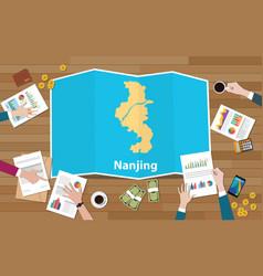 Nanjing china province city region economy growth vector