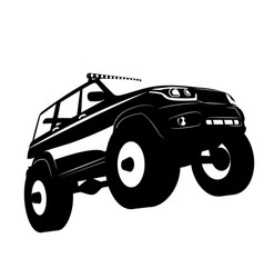 off road vehicle car logo vector image