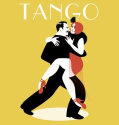 Passionate couple dancing tango-03-01 vector