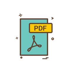 pdf file format icon design vector image
