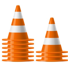 Piles of traffic cones vector