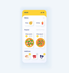 pizza ordering app smartphone interface template vector image