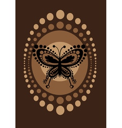 retro butterfly vector image