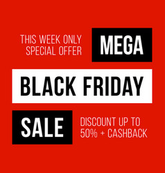 sale poster black friday sale black friday sale vector image