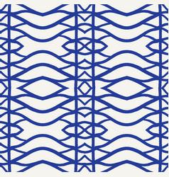 Seamless pattern hand drawn woven trellis vector