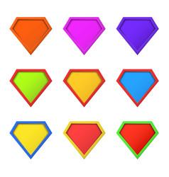 Set colorful different superhero logo concept vector