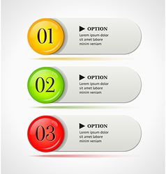 Shine colorful options banners or buttons vector image