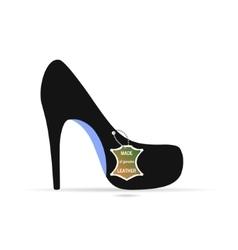 Shoes long heel vector image