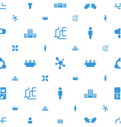 social icons pattern seamless white background vector image