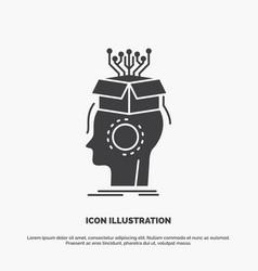 sousveillance artificial brain digital head icon vector image