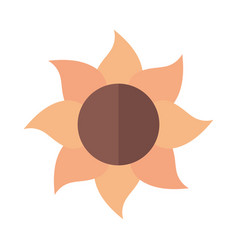 Sunflower flower agriculture farming flat icon vector