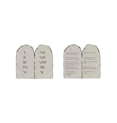 Tablets of stone with the ten commandments vector