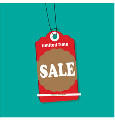 tag sale limited time sale special discount vector image