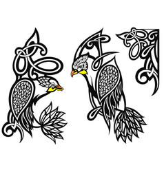 Tattoo design birds vector