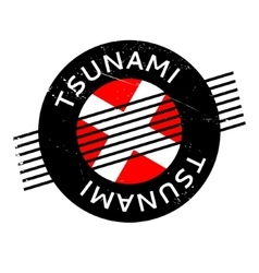 Tsunami rubber stamp vector
