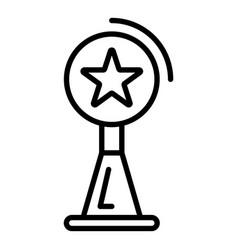 video blog star cup icon outline style vector image