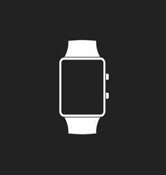 watch icon clock flat vector image