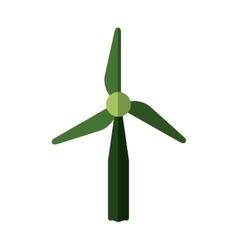 Wind mill icon Save energy design graphic vector