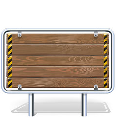 Wooden Industrial Billboard vector image