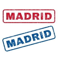 Madrid Rubber Stamps vector image vector image