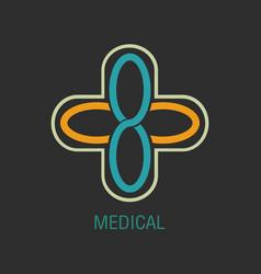 medical logo icon design vector image vector image