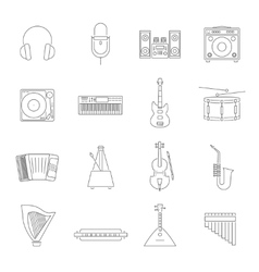Outline Melody Icon Set vector image vector image