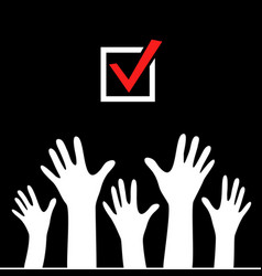 raised hands icon poster vector image