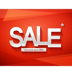 Sale banner template Discount up to 50 vector image vector image