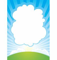 sunrise with cloud background vector image vector image