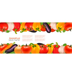 two banners of vegetables vector image vector image