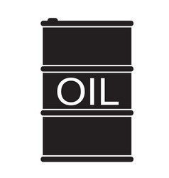 Barrel oil icon on white background flat style vector