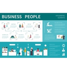 Business people infographic flat vector