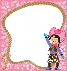 cowgirl birthday party vector image vector image