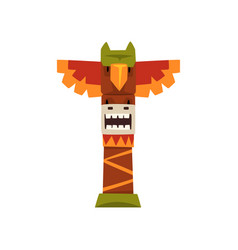 Native indian totem pole a vector