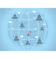 network communication vector image vector image