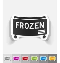 Realistic design element freezer vector