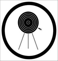 Target goal of black icon vector