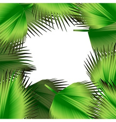 Tropical green leaves vector image vector image