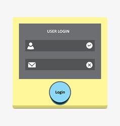 User login 38 vector image vector image