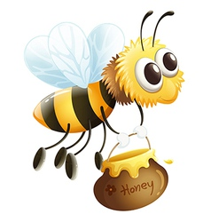 A bee carrying a honey vector image vector image