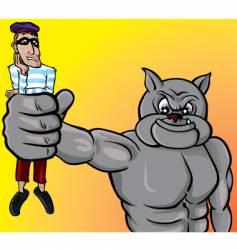 beware dog thief vector image
