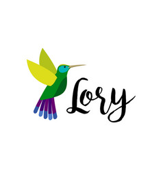 exotic tropical lory bird vector image vector image