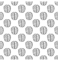 Human brain pattern seamless vector image vector image