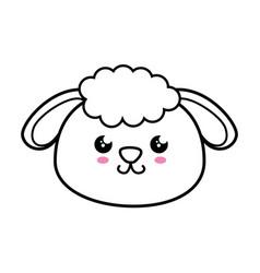 sheep kawaii cartoon vector image vector image