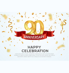 90 years anniversary banner template vector image