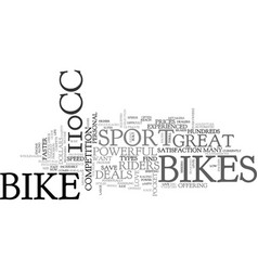 a beginners guide to cc bikes text word cloud vector image