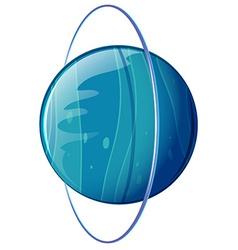 A blue planet vector